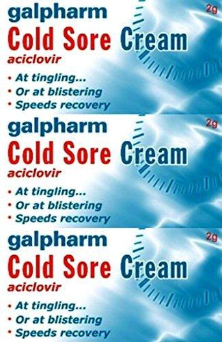 Galpharm Lippenherpes Creme 2g x 3 Packungen