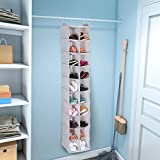 Lifewit 20 Compartments Fabric Hanging Closet Foldable Storage Organizer for Clothing, Shoes, Accessories