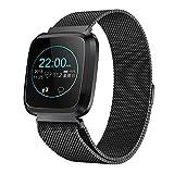 L18 bracelet carré intelligent, podomètre de surveillance de la pression artérielle de fréquence cardiaque de l'exercice en bonne santé, bracelet de sport intelligent en acier inoxydable