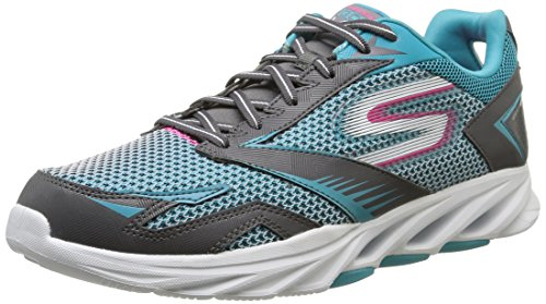 Skechers Go Run Vortex - Zapatillas running para mujer, color gris (ch