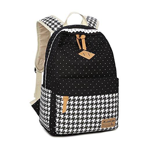 YUEER Canvas Schultertasche Studenten Druck Adrett Lässig Computer-Taschen Business Reisen Computer Schultaschen A