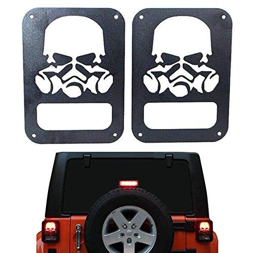 GOZAR Schädel-Form-Auto-Rücklicht-Rückseiten-Lampenabdeckung Für Jeep Wrangler Jk 2007 Bis 2014 (Wrangler Grill 2014 Jeep)