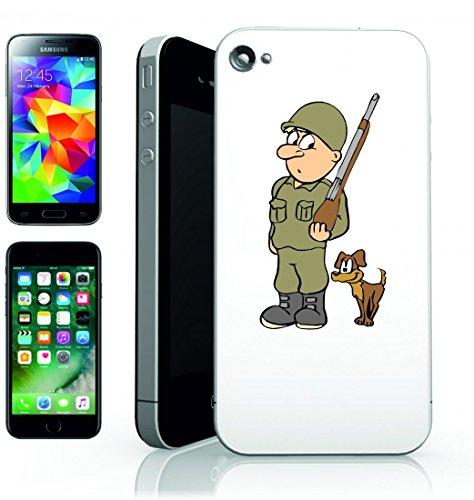 Smartphone Case del Soldato dell Esercito Militare Uniforme di Armi di Arma di chiedo di cane di animale per Apple Iphone 4/4S, 5/5S, 5C, 6/6S, 7& Samsung Galaxy S4, S5, S6, S6Edge, S7, S7Edge