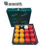Aramith the Belgian Billiard Balls Premier Casino bilie Biliardo disciplina Pool Inglese mm.50,8. 7 biglie Gialle, 7 Rosse, Una Nera numerata e Una Bianca Battente.