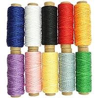 SUPVOX 10 unids 150D 50 m Hilo de algodón Encerado Hilo Costura Manualidades Herramienta de Costura de Hilo de Costura Manual