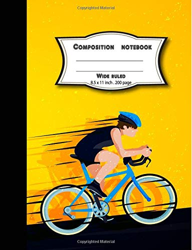 Wide ruled Composition notebook: Blank lined writing notebook for school/student/office por BB Book'n Library
