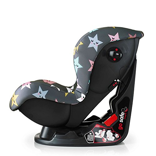 Cosatto Moova 2 Car Seat Group 1, 9-18 kg, Happy Hush Stars Cosatto Moova 2 is suitable from 9 kg-18 kg (9 months - 4 years approximatelyimately); it fits forward-facing with a standard 3-point vehicle seat belt It features the exclusive Five Point Plus Anti-Escape system, great for keeping little wrigglers in place, plus side impact protection for in-car security; the reclining padded seat gives on-board comfort It is easy to clean with removable squidgy padded liner and pop off seat covers-Moova 2 is their padded protector 2