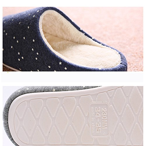 Pantoufles pour enfants Pantoufles pour maison en bois Pantoufles pour maison en coton dhiver 4 couleurs disponibles Taille en option ( Couleur : A , taille : 255(37-39) ) B