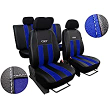 Premium Kunstleder Sitzbezüge Sitzbezug Schonbezüge für Honda Civic Grau Set