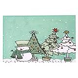 Qiusa 40x120CM Christmas Print Mat, Willkommen Fußmatten + Indoor Home Teppiche + Home Decor Kissen