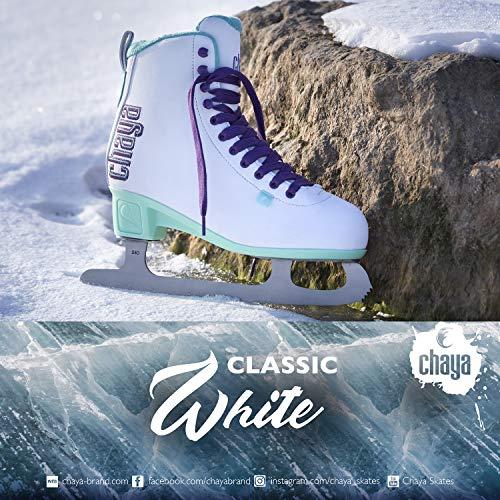 chaya Damen Classic White Schlittschuhe, Weiß, 37