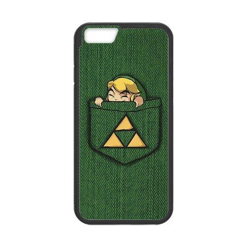 """iPhone 6(4,7""""), Apple iPhone 6/iPhone 6S Housse Case Cover Case-The Legend of Zelda TPU Étui Coque de Protection pour iPhone 66S (Blanc/Noir)"""