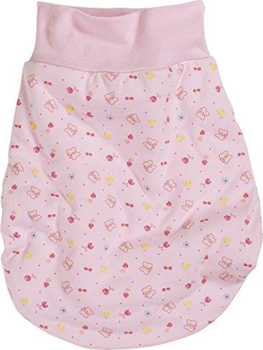 Schnizler Unisex Baby Schlafsack Strampelsack Allover mit elastischem Umschlagbund, Oeko Tex Standard 100, Gr. One size, Rosa (rose 14)