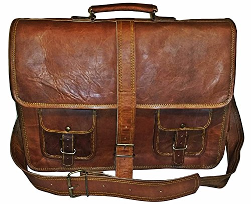 "True Grit Leather- ""blairzy in pelle a tracolla Messenger borsa a tracolla borsa Crossover marrone Brown 16 Inch (40.64 CM)"