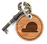 Mr. & Mrs. Panda Rundwelle Schlüsselanhänger Schnecke - Schnecke Schlüsselanhänger, Anhänger, Taschenanhänger, Glücksbringer, Schlüsselband