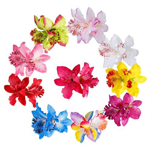Fermaglio per Capelli Hawaiana Fiori Multicolore Orchidea Nuziale Fiore Capelli Clip Spiaggia Fermagli Capelli Barrette Accessori Festa di Nozze per Donna 10 Pezzi