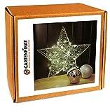 Stern 40 LED für Fenster Weihnachten Batterie 58 cm Metall Draht Timer