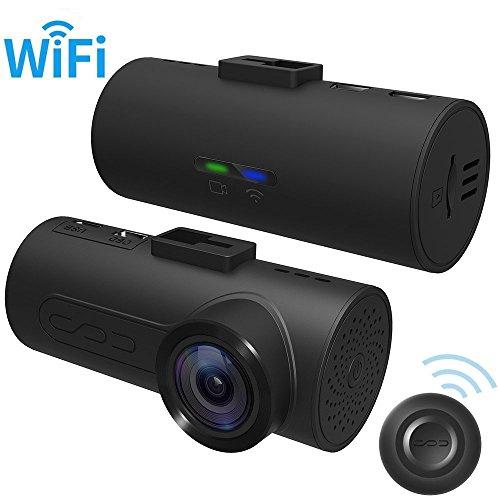 HaloCam - Dash Cam C1 Full HD 1080p - Caméra de voiture avec connexion Wi-Fi intégrée, objectif grand angle 165°, accéléromètre, vision de nuit et enregistrement continu