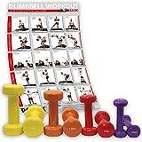 POWRX Vinyl Hantel 8er Set inkl. Workout I Hanteln ideal für Aerobic Pilates I 10 kg Set Kurzhantel 0
