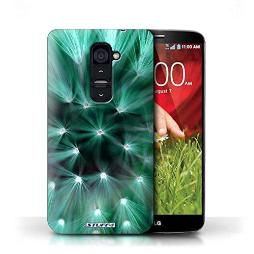 Kobalt® Imprimé Etui / Coque pour LG G2 / Rose conception / Série Couleur/Lumière Fleur Turquoise