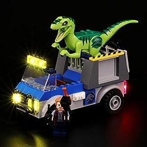 BRIKSMAX Kit di Illuminazione a LED per Lego Juniors Camion per Il Soccorso di Velociraptor, Compatibile con Il Modello… 0716852280155 LEGO