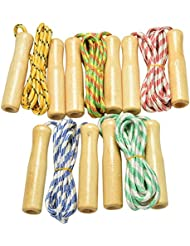 7thLake 2.4M Wooden Handle Skipping Rope Jump Play Sport Exercise Fitness Tool 1pieces-color random
