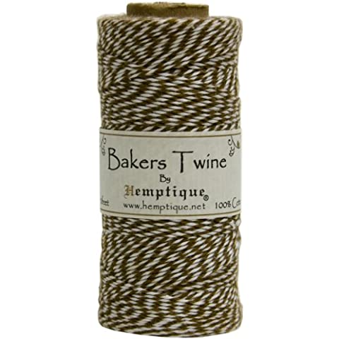 Cotton Baker's Twine Spool 2 Ply 410'/Pkg-Light Brown