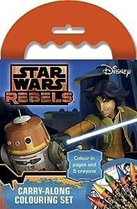 Mini carnet de dessin / coloriage Disney Star Wars Rebel