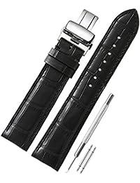 CHIMAERA Australia Reemplazo de piel de becerro genuino 18mm 19mm 20mm 21mm 22mm Reloj pulsera Brazalete Mariposa Hebilla Correa de reloj banda