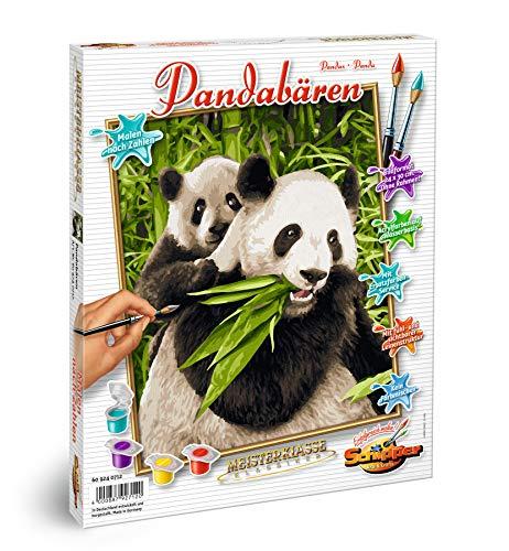 Schipper 609240712 Malen nach Zahlen-Pandabären, 24 x 30cm