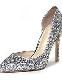 ZQ Zapatos de mujer-Tac¨®n Cu?a-Tacones-Tacones-Oficina y Trabajo / Vestido / Casual-Microfibra-Negro / Amarillo / Beige , beige-us5 / eu35 / uk3 / cn34 , beige-us5 / eu35 / uk3 / cn34