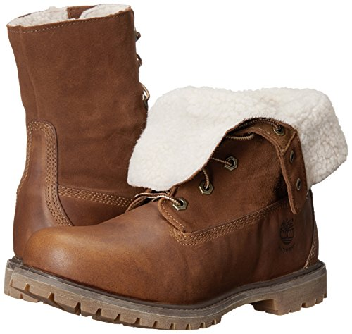 Timberland Teddy Fleece Fold Down Wp  womens Fold Down Boots  Tobacco Forty Leather  3 5 UK  5 5 US