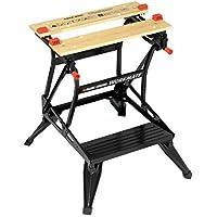 Black+Decker flexible Werkbank WM536 mit großer Arbeitsfläche – Höhenverstellbar und einfach handzuhaben – Bis 160 kg belastbar – Maße (Arbeitsfläche): 25,0 x 61,0 cm