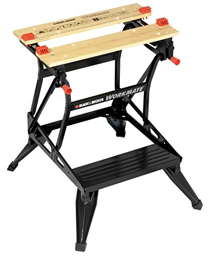 Black+Decker is an American Corporation which manufactures hardware, accessories, power tools, home improvement products and technology based fastening systems. This Black & Decker dual height workmate can be used as a bench tool stand, workbench, vice, or sawhorse.