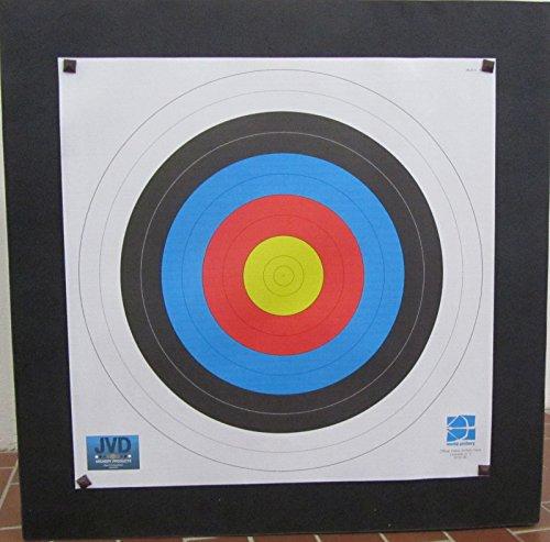 Franks-Castle Zielscheibe extrastark Polifoam bis 70 lbs - 80 x 80 x 17 cm mit Auflage und Scheibennägeln