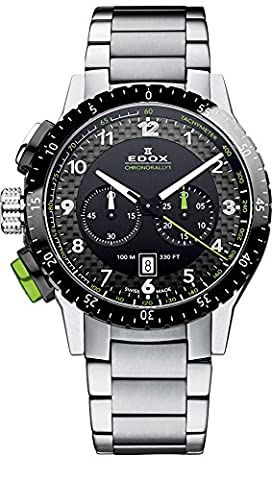 Edox Montre bracelet Mixte Edox Chrono Rally 1à quartz analogique en acier inoxydable 103053NVM NV