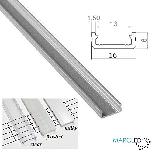 Oval Wardrobe Clothes Hanging Rail 1.0M Aluminium Silver Anodized for LED strips