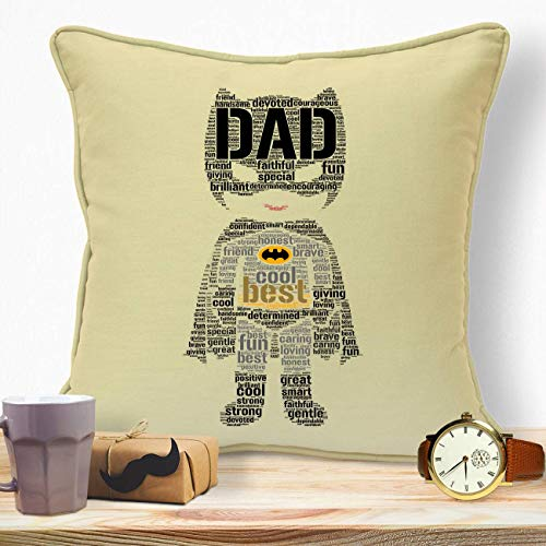 Personalised Presents Gifts For Dad Daddy Step Dad Husband Fathers Day Birthday Christmas From Son Daughters Wife Kids Newborn Baby Batman Word Art Home Decor Sofa Cushion Covers Throw Pillows