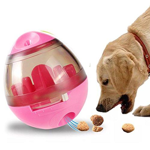 Hundenapf Fressnapf Katzenapf, Togather Tumbler Snack Dispenser Automatisch Hund Spielzeug Haustier Futter Spielzeug (Rosa)