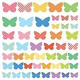 DECOWALL DS-8028 Süße Schmetterlinge Tiere Wandtattoo Wandsticker Wandaufkleber Wanddeko für Wohnzimmer Schlafzimmer Kinderzimmer (Klein)
