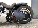 ORLETANOS Hades Black Schwingentasche kompatibel mit Harley Davidson Softail Schwinge HD schwarz...