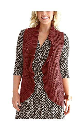 Gilet-Gilet donna a maglia My Size Ruggine