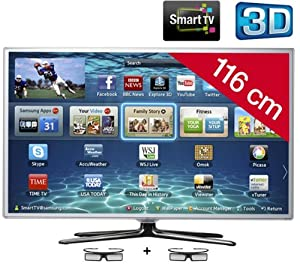 SAMSUNG UE46ES6710 3D LED Smart TV HD TV 1080p, 46 inch (116 cm) 16/9, 400Hz, Freeview, 3D Ready, Ethernet, HDMI x3, USB 2.0 x3, WiFi Ready