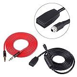 Qiilu 3.5mm Audio Zusatz im Input Schnittstellen Adapter MP3 Musik Kabel (für Männlichen Sockeltyp)