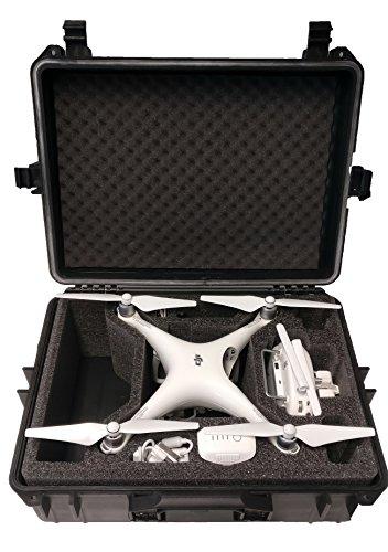 Hartschalen Koffer passend für den DJI Phantom 4 und DJI Phantom 4 Professional sowie Phantom 3 Adv und Pro mit angeschraubten Propellern und viel Zubehör von MC-CASES - 2