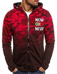 OZONEE Herren Zip Hoody Reißverschluss Fleece Sport Fitness Training  Sweatshirt Kapuzenpullover Langarmshirt Pullover Sweats Pulli J 1bdd893b262