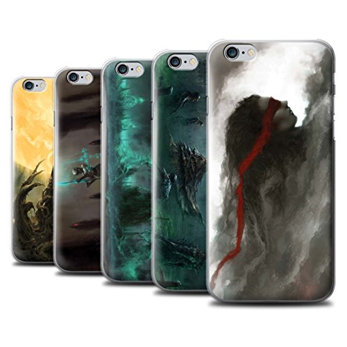 Offiziell Chris Cold Hülle / Case für Apple iPhone 6S+/Plus / Schatten Ritter Muster / Unterwelt Kollektion Pack 5pcs
