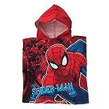 Marvel Avengers Assemble Poncho Spiderman telo da nuoto/mare con cappuccio per bambini