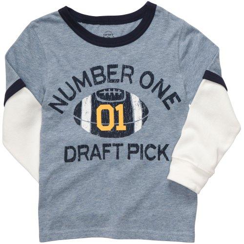 Carter's Langarmshirt für Junge Sweatshirt Boy Outfit Pullover (18 Monate, blau/Weiss) - Carters Pullover