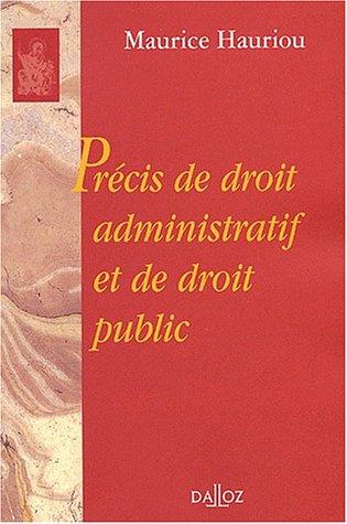 Précis de droit administratif et de droit public